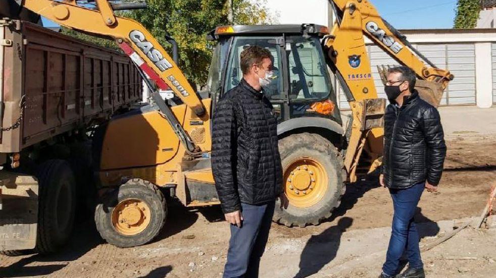 Aresca supervisó obras en barrio Independencia