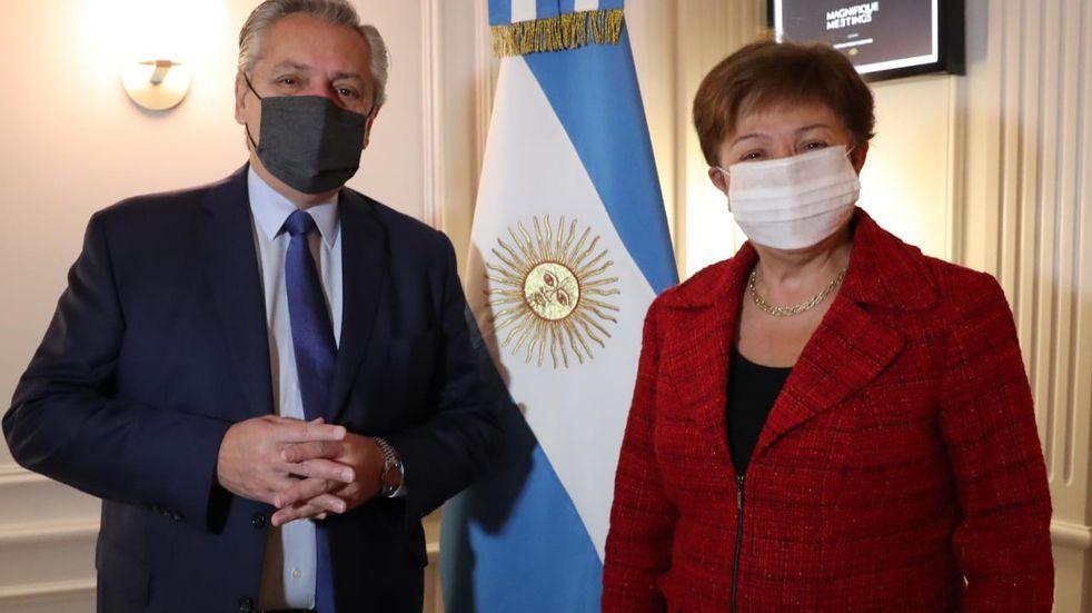 """Alberto Fernández se reunió con el FMI para renegociar la deuda, """"pero no a cualquier precio"""""""