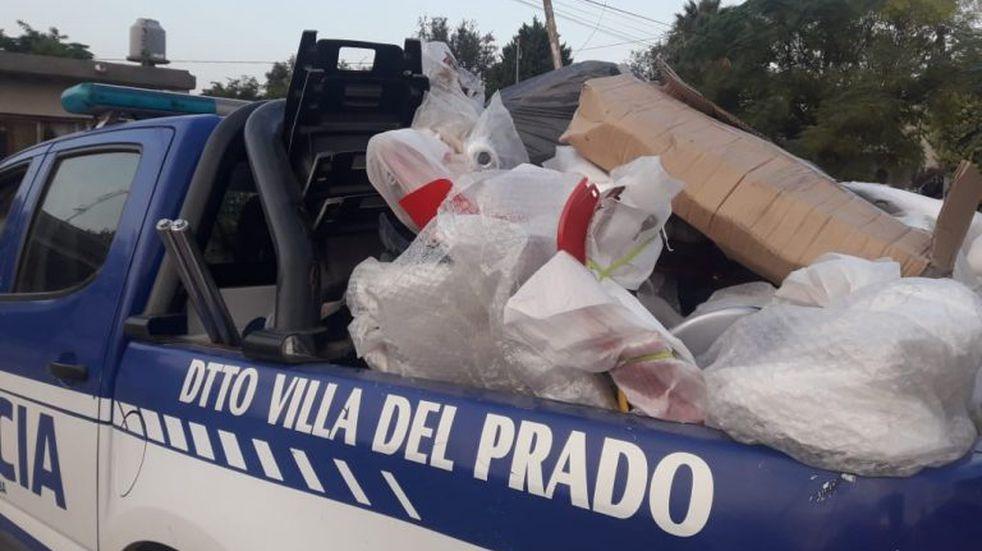Allanamientos y un detenido en Los Cedros: hallaron motopartes de la empresa Appia