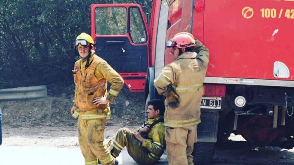 Incendios: los bomberos de Córdoba reciben la Navidad luchando contra las llamas