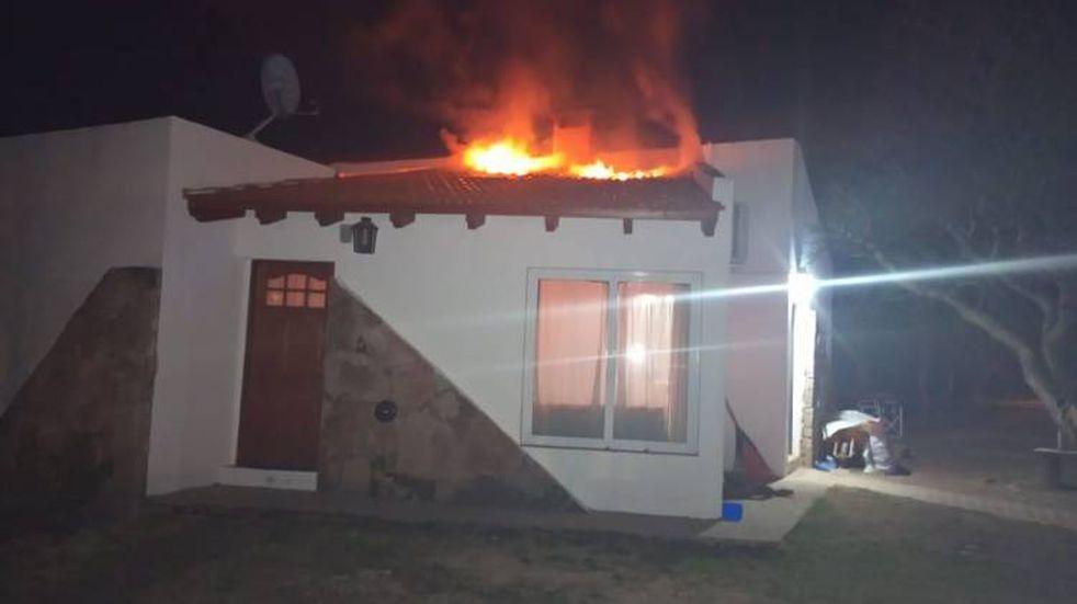 Se incendió una cabaña