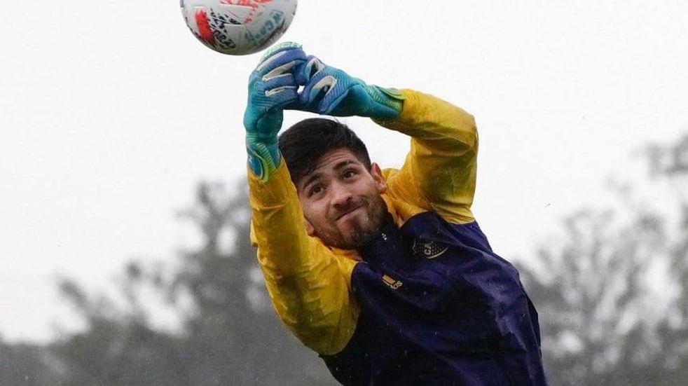 Agustín Rossi volvió a los entrenamientos de Boca luego de su paso fugaz por la Selección Argentina