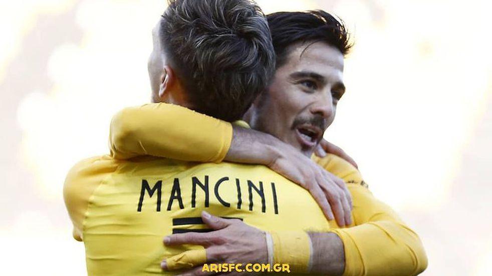 Daniel Mancini fue titular en el empate del Aris Salónica ante el Olympiacos