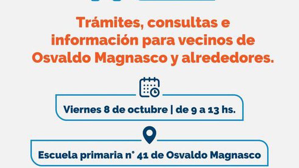 Se realizará en la escuela de Osvaldo Magnasco.